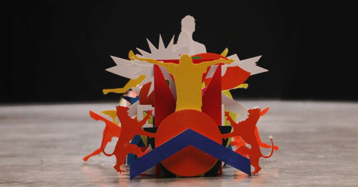 Animation Music Video for 'Katachi' Made From Thousands of Colorful, Cut PVC Plates [VIDEOS]